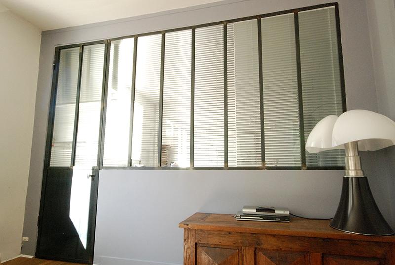 cloison en verre style atelier good porte vantaux of plus. Black Bedroom Furniture Sets. Home Design Ideas